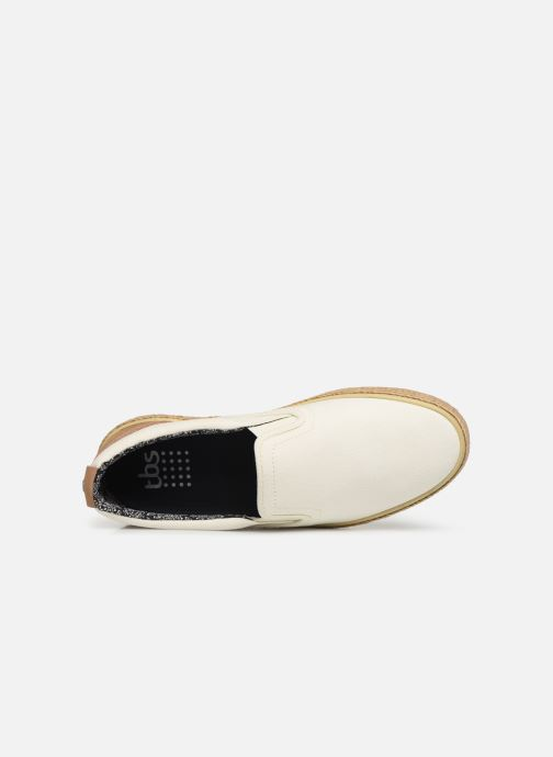 Mocassins TBS Reviews Blanc vue gauche