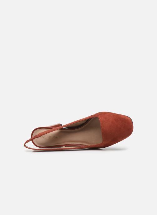 Zapatos de tacón Nat & Nin PEARL Naranja vista lateral izquierda