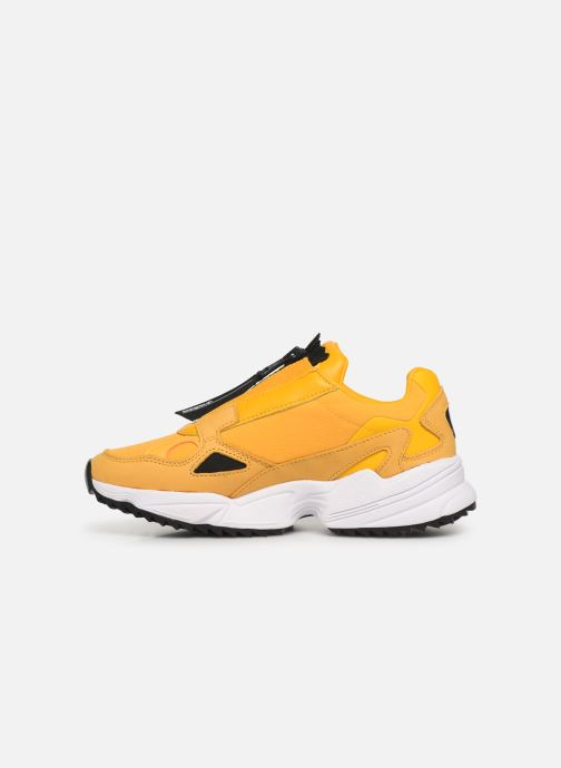 Baskets adidas originals Falcon Zip W Jaune vue face