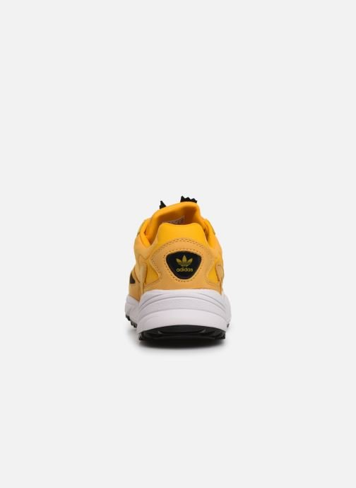 Baskets adidas originals Falcon Zip W Jaune vue droite