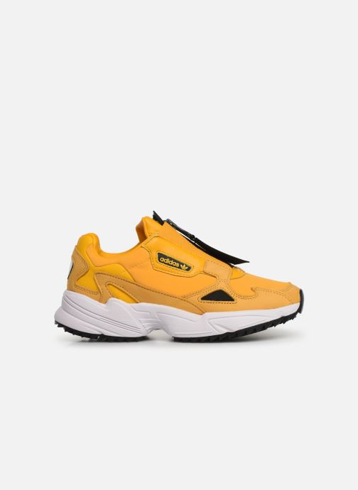 Baskets adidas originals Falcon Zip W Jaune vue derrière