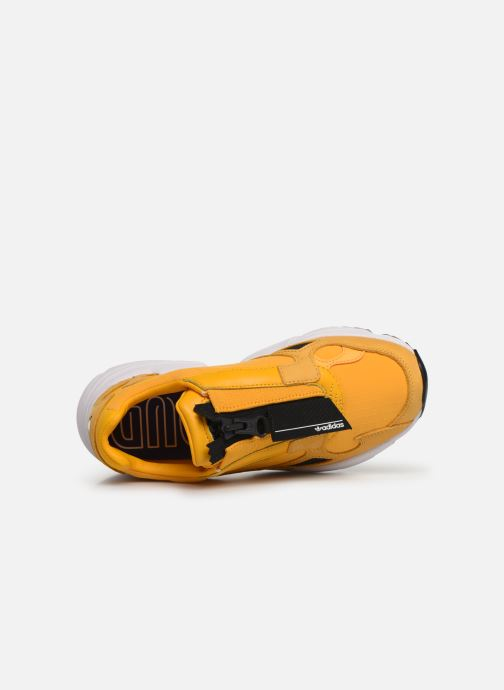Baskets adidas originals Falcon Zip W Jaune vue gauche
