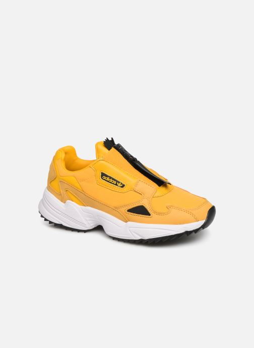 Baskets adidas originals Falcon Zip W Jaune vue détail/paire