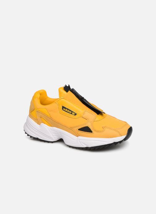 Sneakers adidas originals Falcon Zip W Gul detaljeret billede af skoene