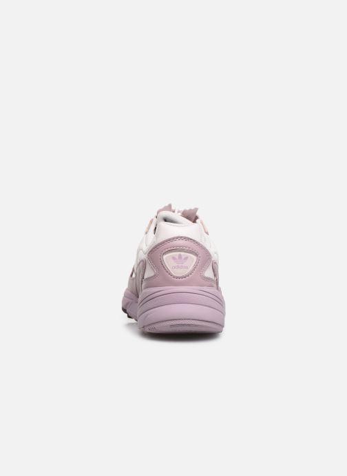Baskets adidas originals Falcon Zip W Violet vue droite