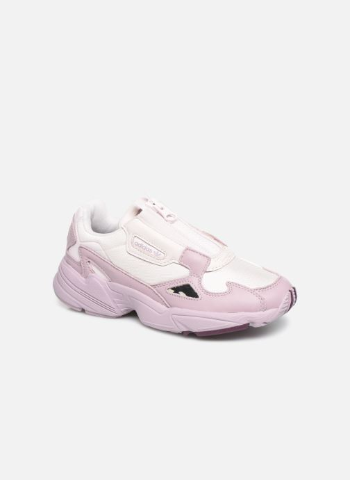 Baskets adidas originals Falcon Zip W Violet vue détail/paire