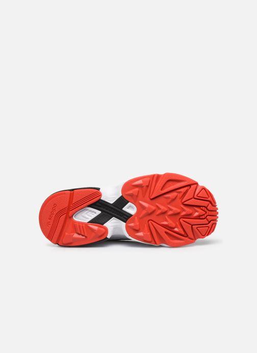 Sneaker adidas originals Falcon Zip W schwarz ansicht von oben