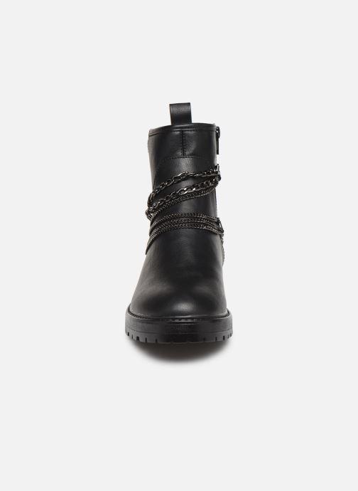 Bottines et boots ONLY 15184260 ONLBAD CHAIN WRAP BOOTIE Noir vue portées chaussures
