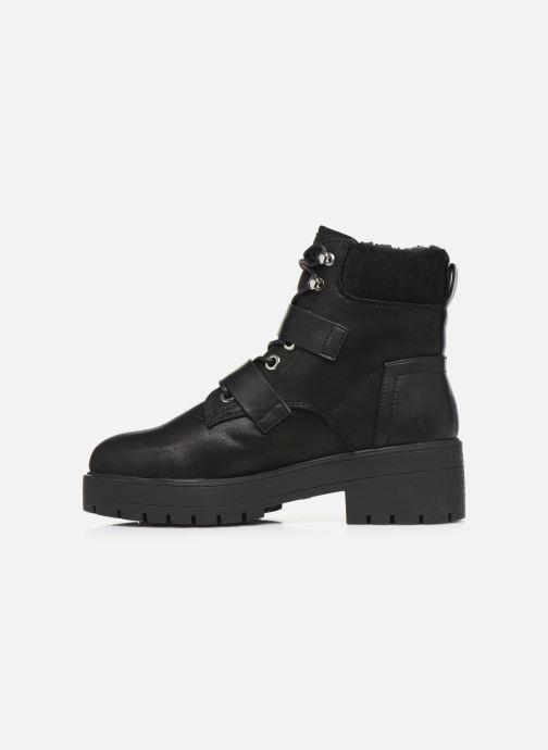 Bottines et boots ONLY 15184280 ONLBRANKA BUCKLE PU  WINTER BOOTIE Noir vue face