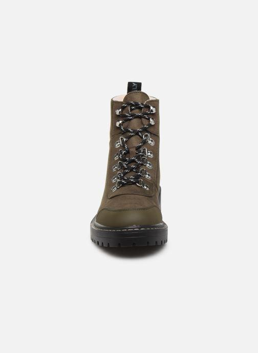 Stiefeletten & Boots ONLY ONLBOLD LACE UP  WINTER  BOOTIE grün schuhe getragen