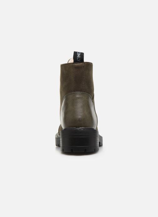 Bottines et boots ONLY ONLBOLD LACE UP  WINTER  BOOTIE Vert vue droite