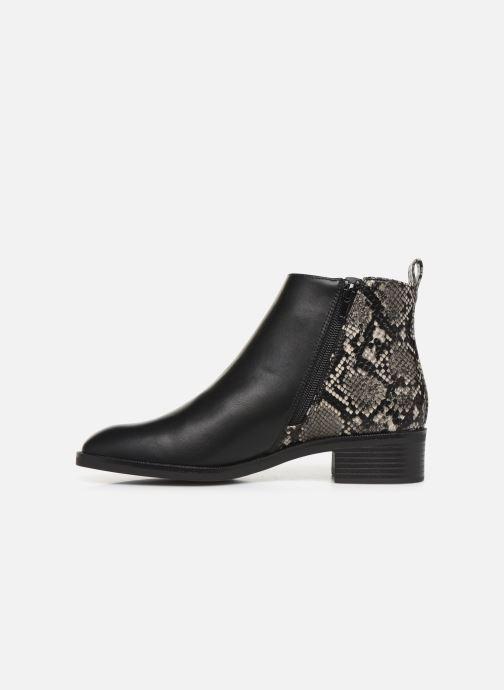 Bottines et boots ONLY ONLBRIGHT  STRUCTURE  PU BOOTIE 15184292 Noir vue face