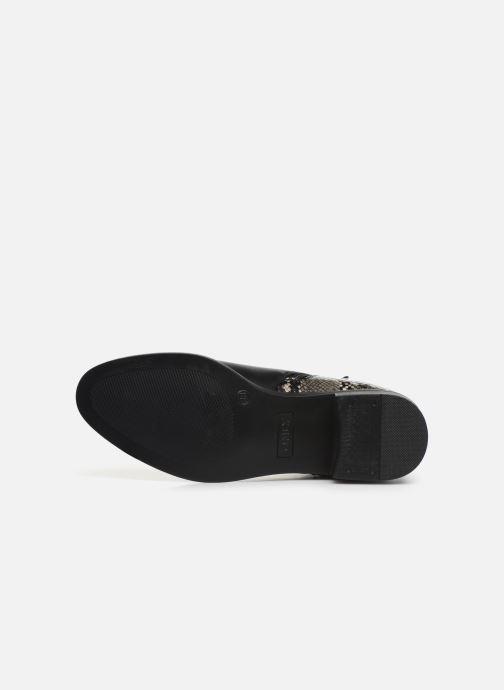 Bottines et boots ONLY ONLBRIGHT  STRUCTURE  PU BOOTIE 15184292 Noir vue haut