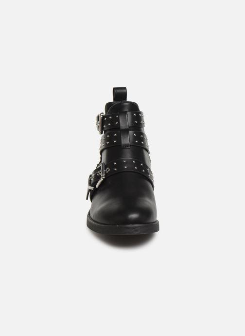 Boots en enkellaarsjes ONLY ONLBIBI  STUD  PU  BOOTIE 15184246 Zwart model