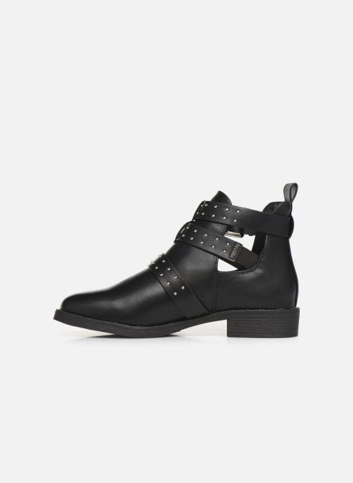 Boots en enkellaarsjes ONLY ONLBIBI  STUD  PU  BOOTIE 15184246 Zwart voorkant