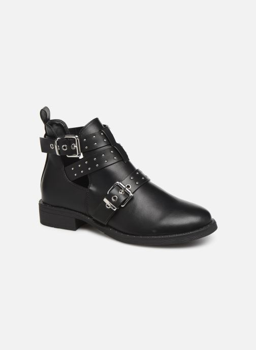 Boots en enkellaarsjes ONLY ONLBIBI  STUD  PU  BOOTIE 15184246 Zwart detail