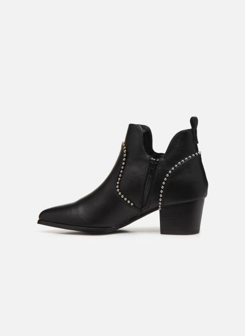 Bottines et boots ONLY ONLTOBIO CURVE STUD  PU BOOTIE 14184488 Noir vue face
