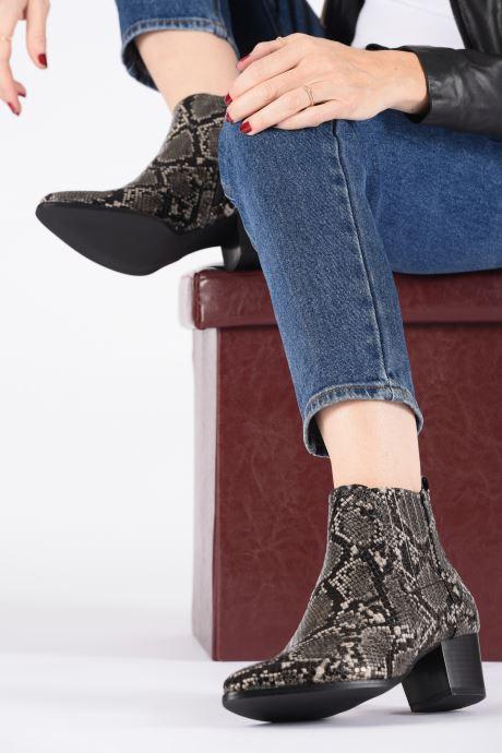 Boots en enkellaarsjes ONLY ONLTOBIO SNAKE  PU BOOTIE 15184286 Grijs onder
