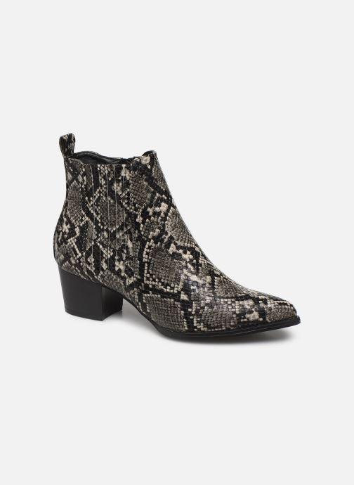 Boots en enkellaarsjes ONLY ONLTOBIO SNAKE  PU BOOTIE 15184286 Grijs detail