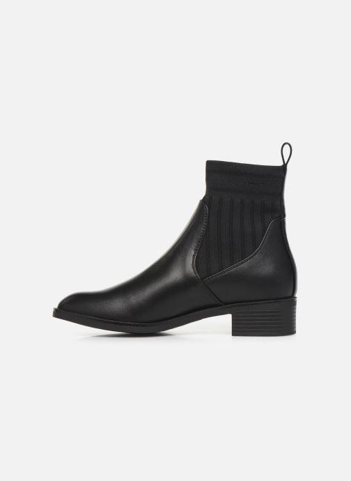 Bottines et boots ONLY ONLBRIGHT TUBE  PU BOOTIE 15184281 Noir vue face