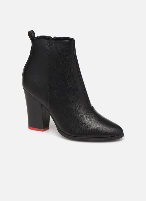 Bottines et boots ONLY ONLBLUE RED HEELED PU BOOTIE 15184261 Noir vue détail/paire