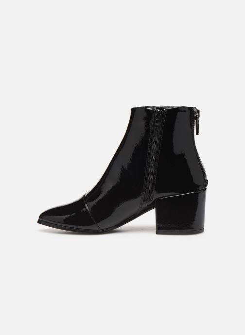 Bottines et boots ONLY ONLBELEN ZIP  PATENT  BOOTIE 15184244 Noir vue face