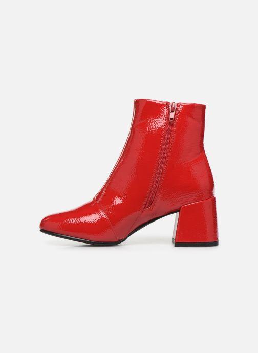 Bottines et boots ONLY ONLBIMBA  HEELED ZIP  BOOTIE 15184248 Rouge vue face