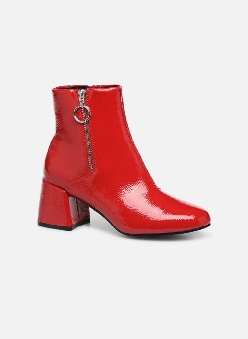 Bottines et boots ONLY ONLBIMBA  HEELED ZIP  BOOTIE 15184248 Rouge vue détail/paire
