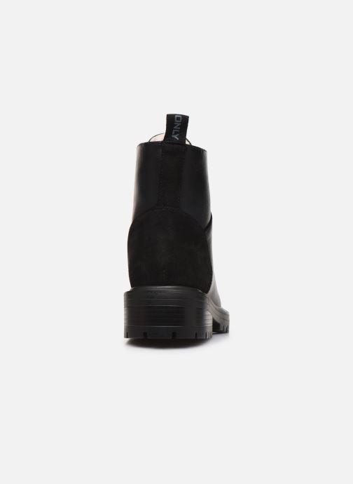 Stiefeletten & Boots ONLY ONLBOLD  LACE UP  PU  WINTER  BOOTIE 15184266 schwarz ansicht von rechts