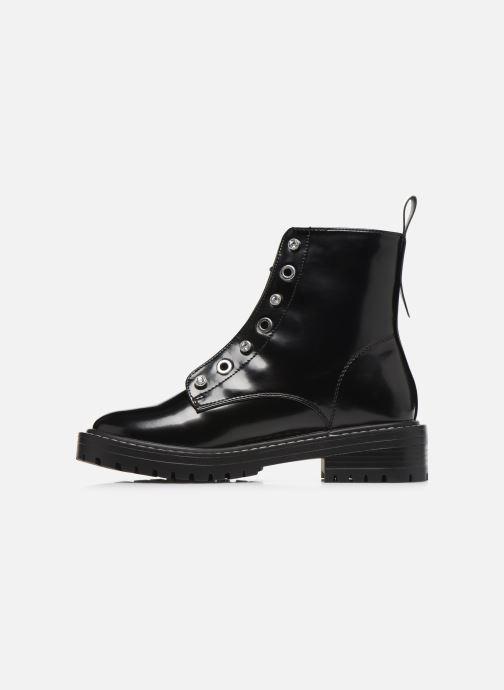 Stiefeletten & Boots ONLY ONLBOLD  LACE UP  PATENT  BOOTIE 15184270 schwarz ansicht von vorne
