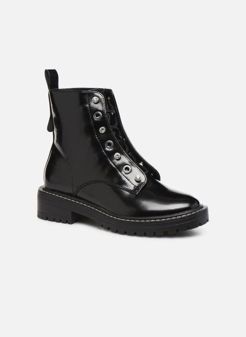 Bottines et boots ONLY ONLBOLD  LACE UP  PATENT  BOOTIE 15184270 Noir vue détail/paire