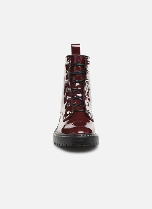Bottines et boots ONLY ONLBOLD  LACE UP  PATENT  BOOTIE 15184270 Bordeaux vue portées chaussures