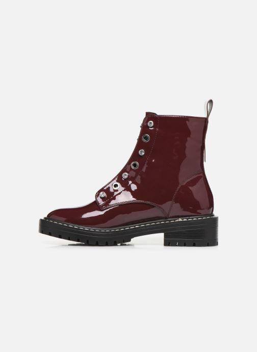 Bottines et boots ONLY ONLBOLD  LACE UP  PATENT  BOOTIE 15184270 Bordeaux vue face