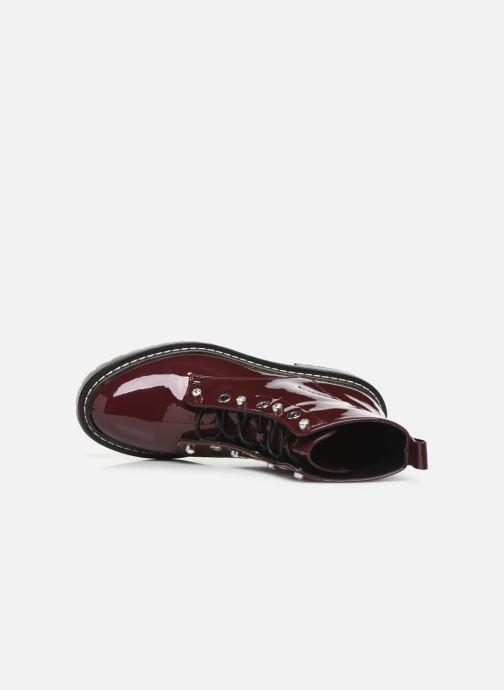 Bottines et boots ONLY ONLBOLD  LACE UP  PATENT  BOOTIE 15184270 Bordeaux vue gauche