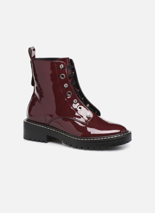 Bottines et boots ONLY ONLBOLD  LACE UP  PATENT  BOOTIE 15184270 Bordeaux vue détail/paire