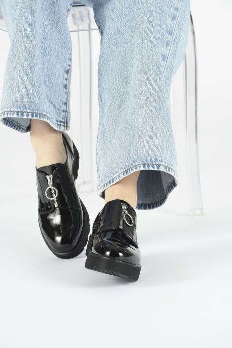 Chaussures à lacets ONLY ONLBINNY PU ZIP UP  15184254 Noir vue bas / vue portée sac