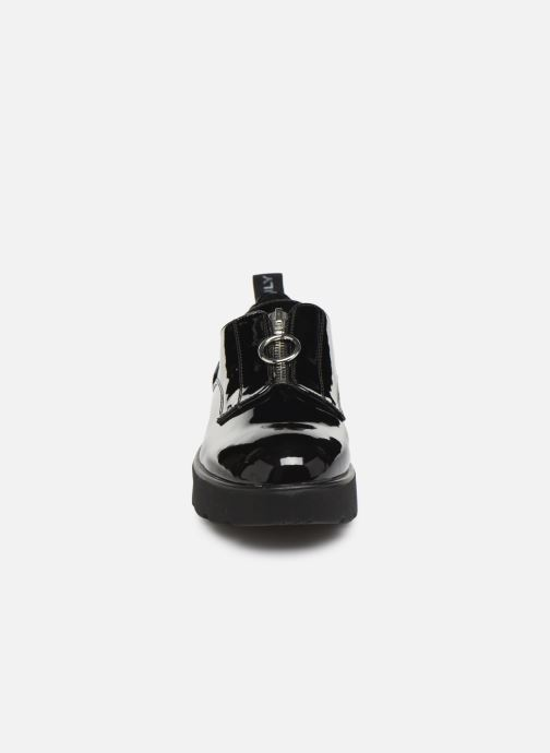 Chaussures à lacets ONLY ONLBINNY PU ZIP UP  15184254 Noir vue portées chaussures
