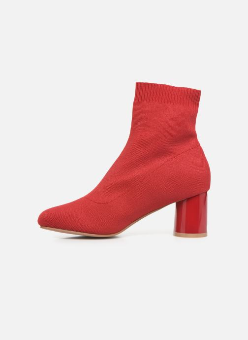 Ankle boots ONLY ONLBIMBA  HEELED  SOCK  BOOTIE  15184252 Red front view