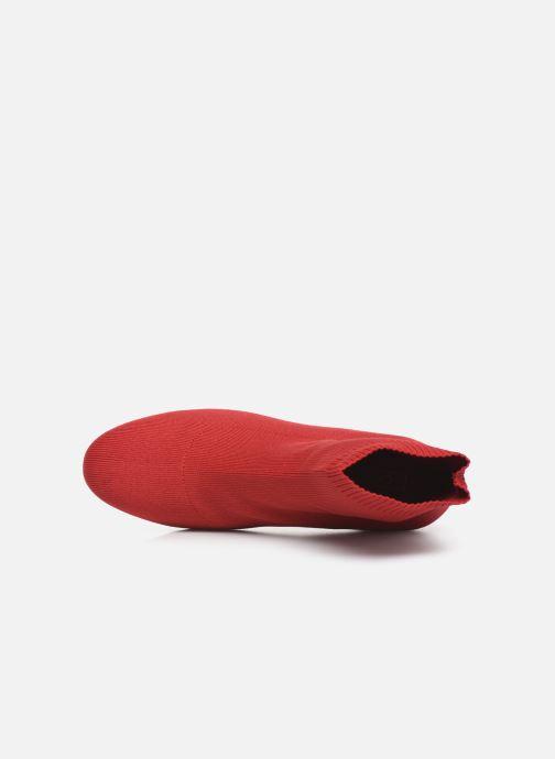 Bottines et boots ONLY ONLBIMBA  HEELED  SOCK  BOOTIE  15184252 Rouge vue gauche