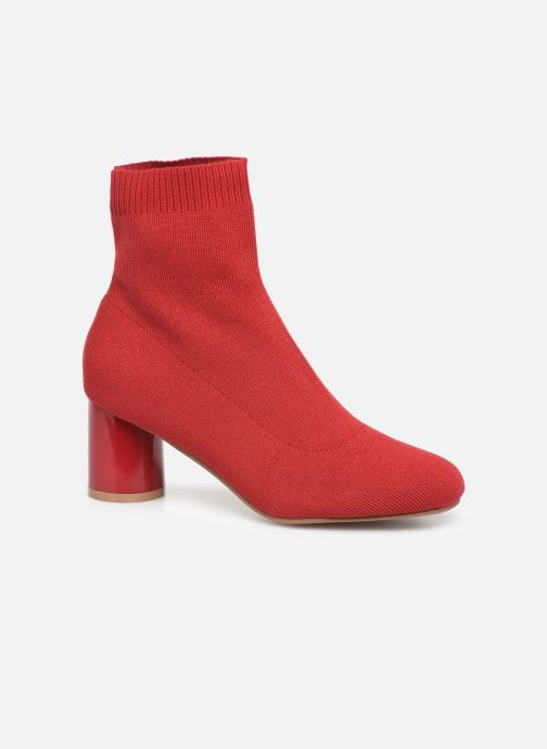 Ankle boots ONLY ONLBIMBA  HEELED  SOCK  BOOTIE  15184252 Red detailed view/ Pair view