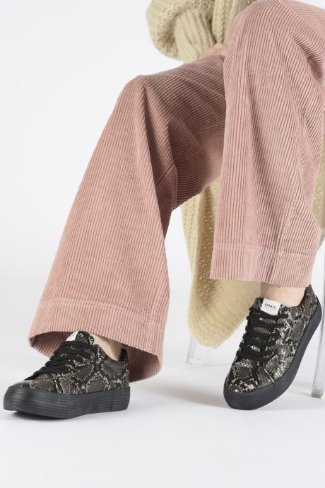 Sneakers ONLY ONLSALONI  SNAKE  PU  SNEAKER 15184230 Grijs onder