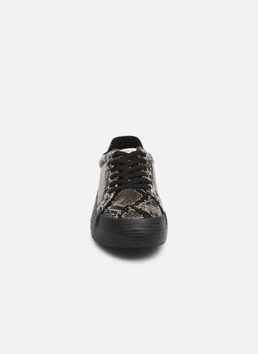 Baskets ONLY ONLSALONI  SNAKE  PU  SNEAKER 15184230 Gris vue portées chaussures