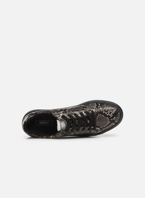 Trainers ONLY ONLSALONI  SNAKE  PU  SNEAKER 15184230 Grey view from the left
