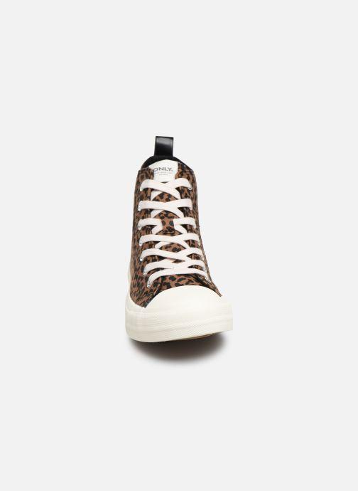 Sneakers ONLY ONLSALONE CANVAS ANKLE  SNEAKER  15184233 Multicolore modello indossato