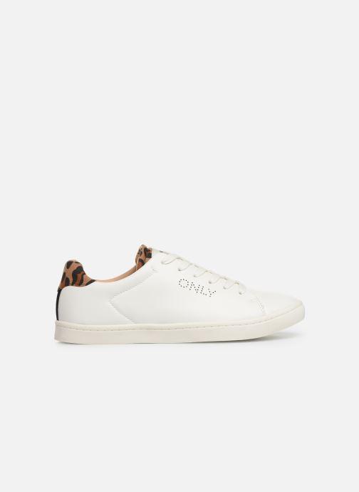 Sneakers ONLY ONLSILJA  DETAIL  PU SNEAKER 15184168 Hvid se bagfra