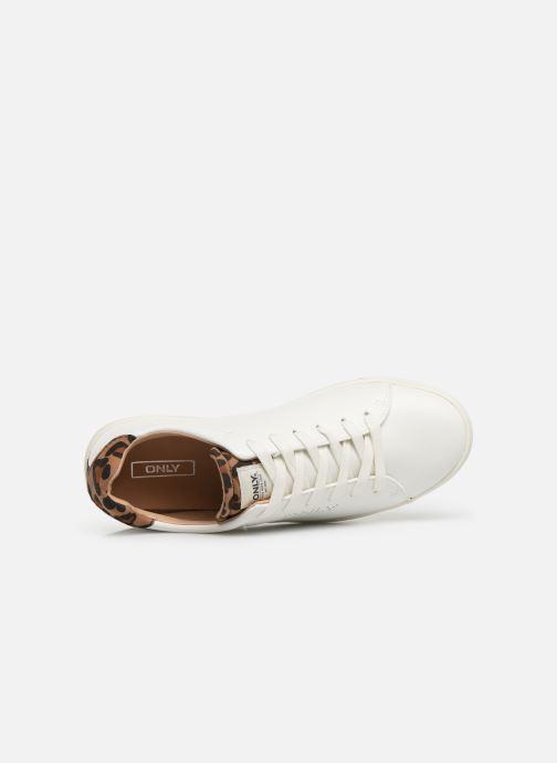 Sneakers ONLY ONLSILJA  DETAIL  PU SNEAKER 15184168 Hvid se fra venstre