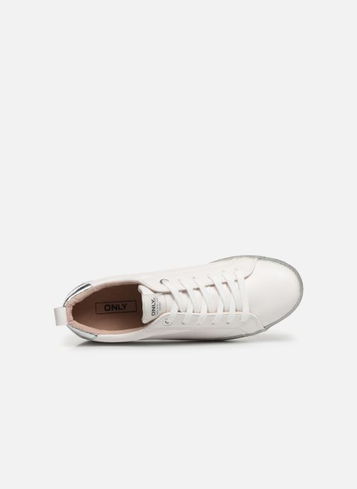 Sneakers ONLY ONLSHERBY GLITTER  PU SNEAKER 15184239 Bianco immagine sinistra