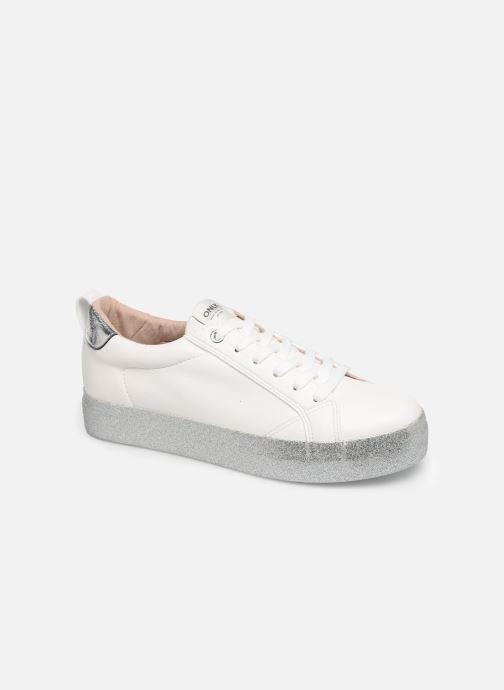 Sneakers ONLY ONLSHERBY GLITTER  PU SNEAKER 15184239 Wit detail