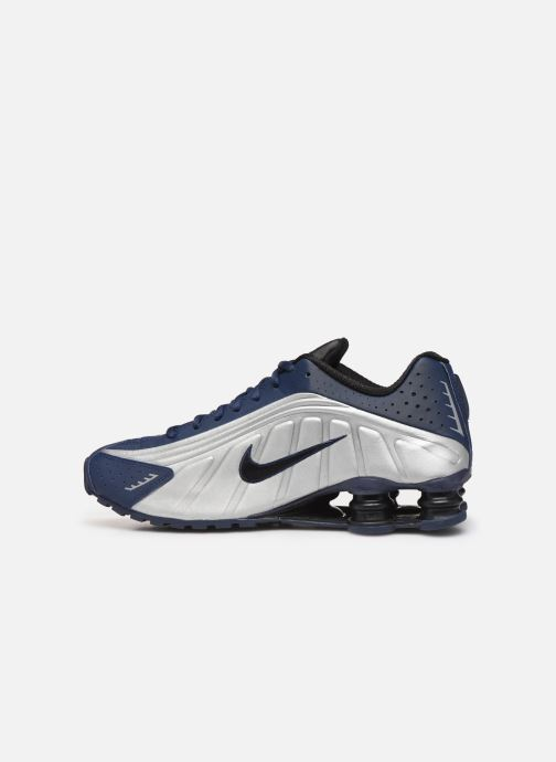 Sneakers Nike Nike Shox R4 Blauw voorkant