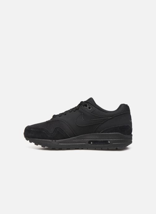 Sneaker Nike Wmns Air Max 1 schwarz ansicht von vorne